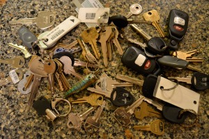 More than two dozen keys! Surely we don't need all of them.
