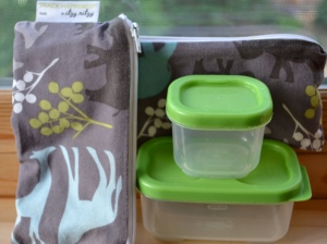 Simplifying the lunchbox with reusable bags and containers.