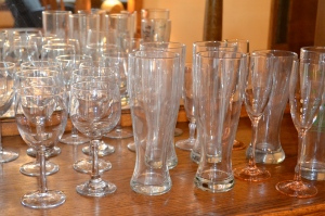 Simplifying at home by getting rid of unused barware