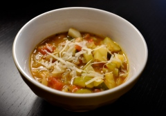 Simple provencal soup with pistou