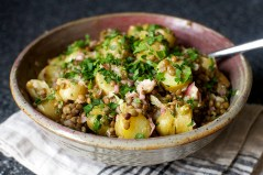 Warm lentil and potato salad, photo courtesy of Smitten Kitchen