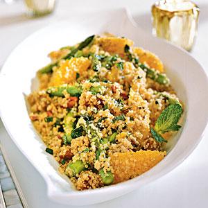 Photo of quinoa salad from original Cooking Light recipe.